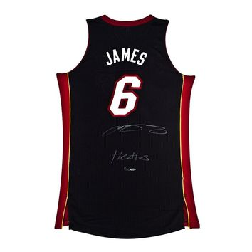 LeBron James Signed Autographed Miami Heat Basketball Jersey (Upper Deck Authenticated)