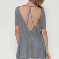 Jersey V Back Tunic Top