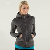 Lululemon Fashion Casual Hooded Sport Running Cardigan Jacket Coat