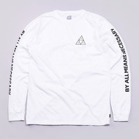 Flatspot - Huf Triple Triangle L/S T Shirt White