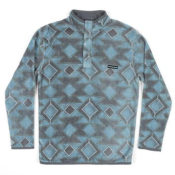Pueblo Aztec Pullover in French Blue & Midnight Gray by Southern Marsh