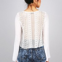 Ethereal Net Blouse | Cute Tops at Pink Ice