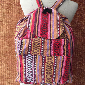 Tribal Backpack Boho Ethnic Aztec Hmong Woven Hipster Gypsy NPatterns Bags Hippie Purse Tapestry Rucksack Travel luggage Bag gifts for him