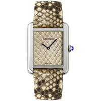 Cartier - Tank Solo - Python Pattern - Stainless Steel