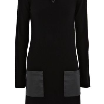 Warehouse Notch neck tunic Black - House of Fraser