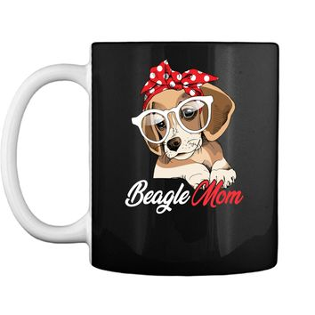 Beagle Mom Shirt for Beagle Dogs Lovers-Mothers Day Gift Mug