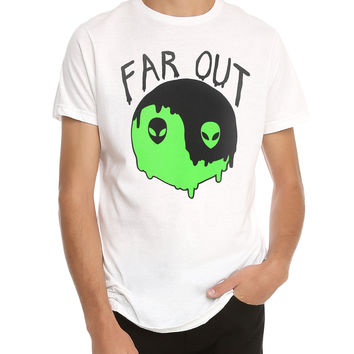 Far Out Alien Yin-Yang T-Shirt