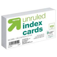 """Index Cards Unruled 3"""" x 5"""" 100ct White - up & up™"""
