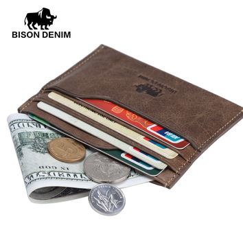 New wallet vintage leather genuine wallet men,Money Purses mini Wallets With ID Card Holder