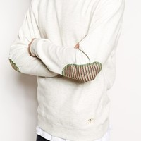 Bellfield Sweatshirt With Jacquard Elbow Patch