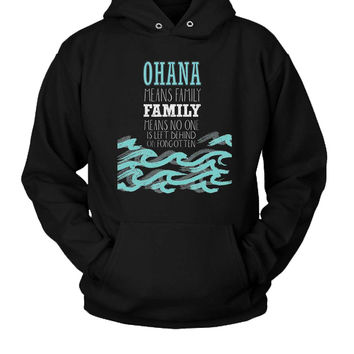 Ohana Family Quote Hoodie Two Sided