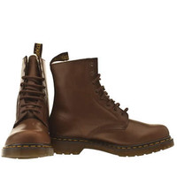 Women's Tan Dr Martens Serena 8 Eye Boot at schuh