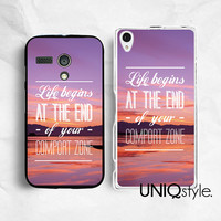 Life quote Sony Motorola phone case for Sony Xperia Z Xperia Z1, Moto G Moto X, life quote back cover for Sony Motorola, sunset view, E83
