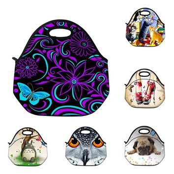 Lunch Bag Neoprene Large Gourmet Lunch Tote Insulated Waterproof Lunch Bags With Zipper Cooler Handbag For Women Kids Baby Girls