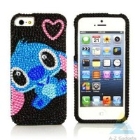 A-Z Gadgets Cute Bling Rhinestone Case for Apple iPhone 5- Shiny BabyStitch Snap-on Hard Case with Repair Kit-Retail Package