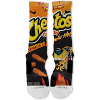 Hot Cheetos Customized Nike Elite Socks! Fast Shipping!! XXtra Flamin Hot