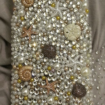 Under the sea crystal phone case, beach phone case, ocean case, bling case
