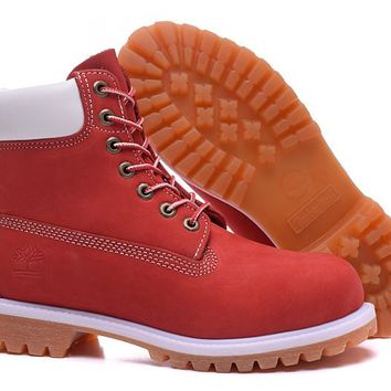 Cheap Timberland Men's 6-Inch Boots In Red
