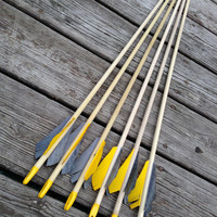 ON SALE --- 1/2 Dozen (6) Wooden Arrows - Custom You-Finish Arrows - 125 Grain Field Tips