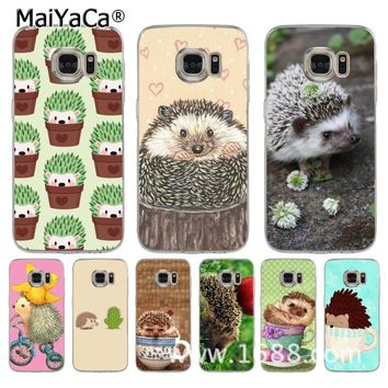 MaiYaCa Hedgehog Cute in Teacup Animal Art soft tpu phone case cover for samsung galaxy s7 edge s6 edge plus s5 s4 s8 plus case