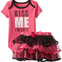 Baby Infant Girls Kiss Me I'm Cute 2 Pc Tutu Skirt Set