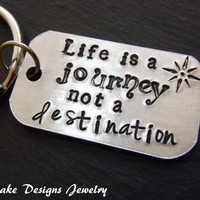 Graduation keychain life is a journey not a destination graduation gift for him