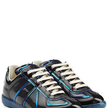 Maison Margiela - Patent Leather Sneakers with Metallic Trims