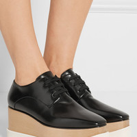 Stella McCartney - Faux leather platform brogues