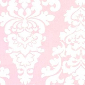 Primrose Pink Damask Fabric by the Yard | 100% Cotton