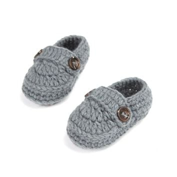 Handmade Knitting Crochet Baby Booties Shoes (10 cm/4 inches)
