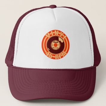 Vinyl- 45 Orange Trucker Hat