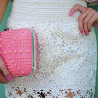 Love Trance Lace Skirt: Ivory | Hope's