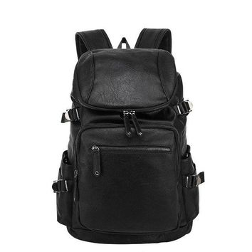 University College Backpack MAGIC UNION New Leather  Men's Casual Travel Bags Oil Wax Leather Laptop Bags  Style s Mochila Zip MenAT_63_4