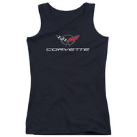 CHEVY/CORVETTE MODERN EMBLEM-JUNIORS TANK TOP  -BLACK