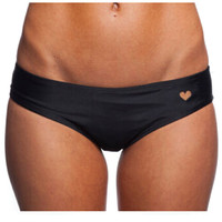Black Heart Cut Out Bottom Swimwear