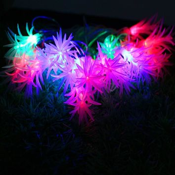 Christmas led String Light Colorful 4M 20LED AC 220V pine needle waterproof lamp for Patio Garlands Holiday outdoor Decoration