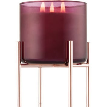 ROSE GOLD PEDESTAL3-Wick Candle Sleeve