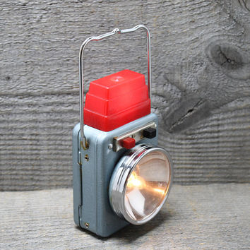 Vintage Handheld Flashlight Lantern Advertising Piece for Bilek Distributing Marshfield Wis