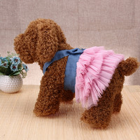 Summer Pet Dog Dress for Dog Puppy Clothes High Quality Jean Pet Clothes Apparels Fashion Dogs Pet Princess Dresses