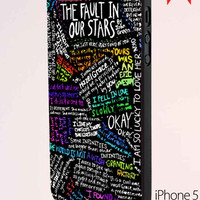 The Fault In Our Stars Quote Rainbow iPhone 5 Case