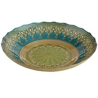 Lime & Teal Arabesque Bowl
