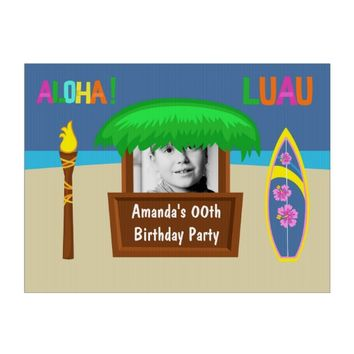 Kids Hawaiian Luau Party Customizable Lawn Sign