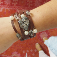 Smoke Show Leather Wrap Bracelet