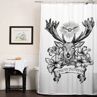 Expecto Patronum Deathly Hallows Harry Potter custom shower curtain