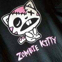 ZOMBIE KITTY Tshirt - Cute Zombie Apocalypse Kitty Cat Shirt Funny!!