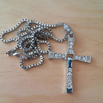 Stainless Steel Cross Pendant. Inspired by Fast and Furious Movie.