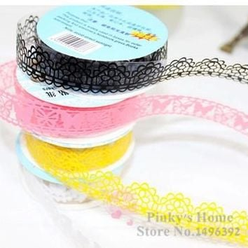 2.5CMx100CM DIY Lace Tape Adhesive Tape Masking Tape Decorative Stickers Stationery Adhesivos Scrapbooking Photo Decoration