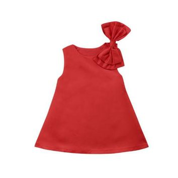Emmababy Kids Baby Girls Flower Princess Dress elegant cute red party Pageant elegant vestido kids dresses for girls