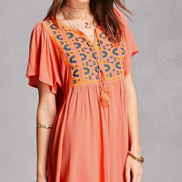 Velzera Neon Embroidered Tunic