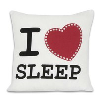 I Heart Sleep Pillow